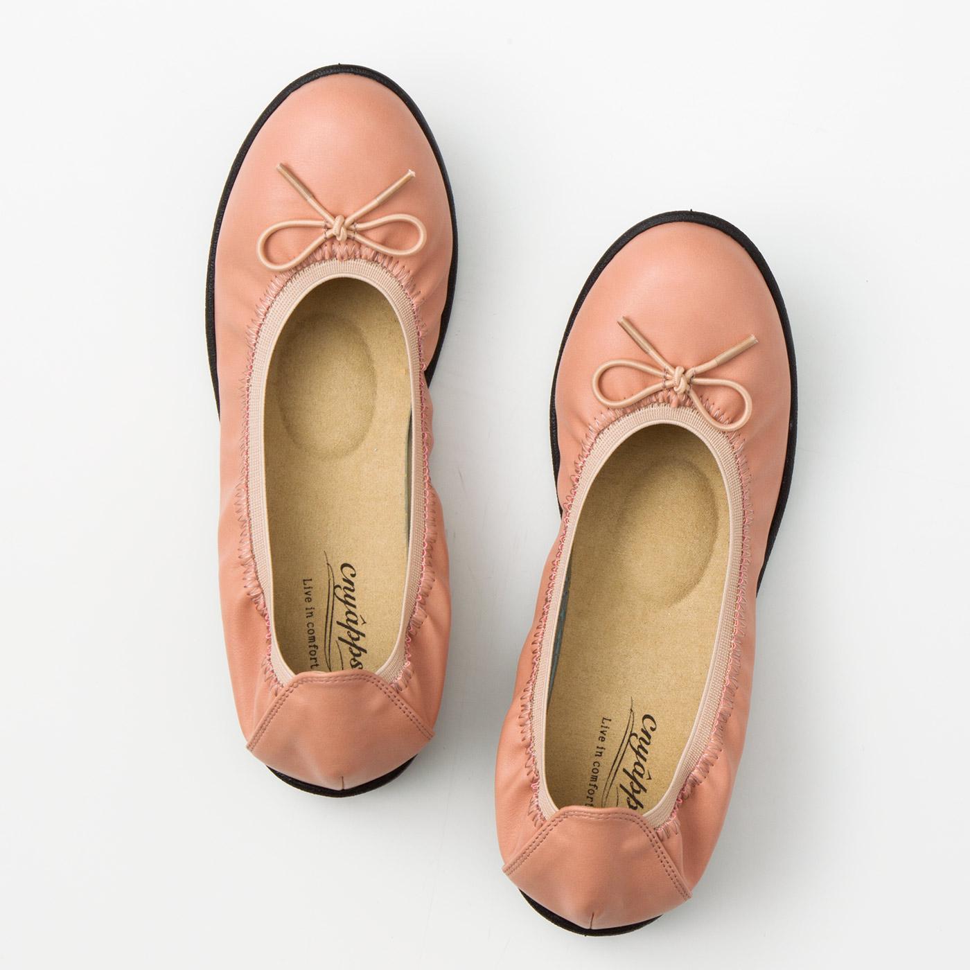 フェリシモ リブ イン コンフォート 包み込まれるような履き心地の 軽やかリボンくにゃっプス(R)〈ピンク〉