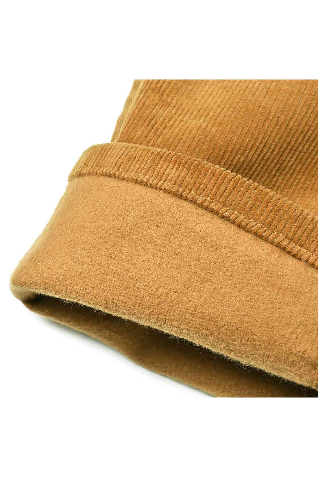 裏起毛加工でふんわりと肌当たり暖か。