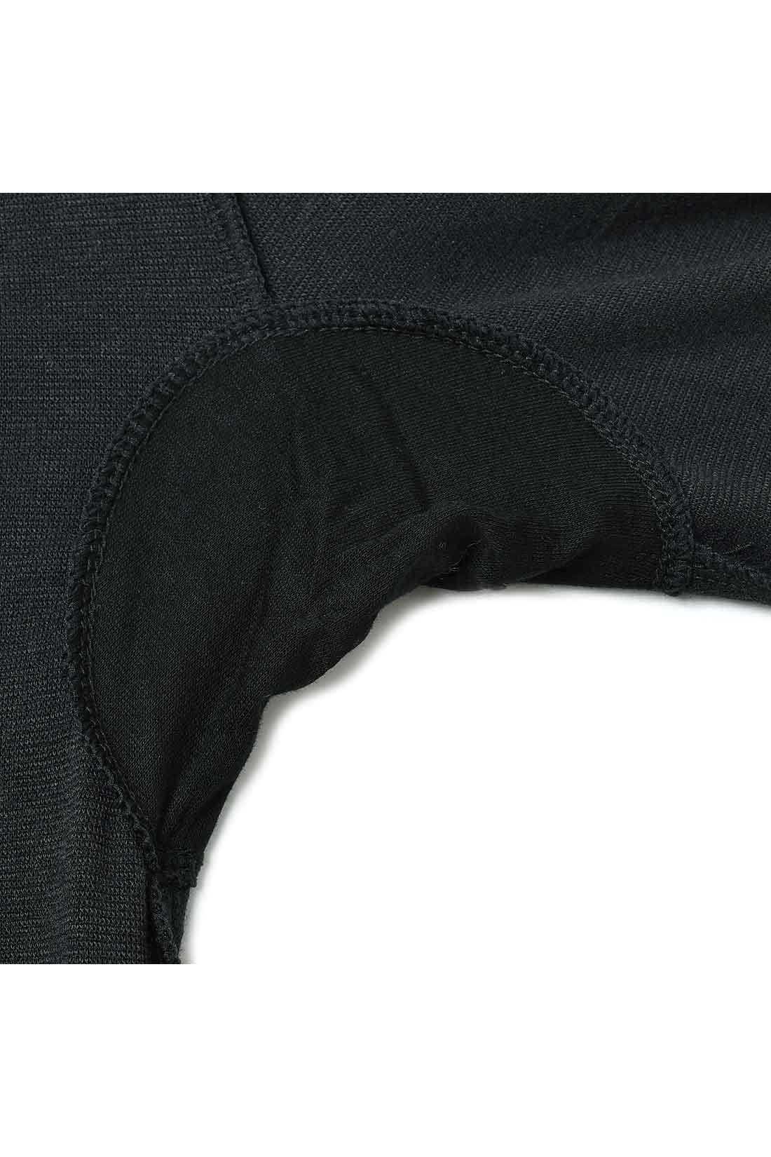 頼れるわきバッド 制菌加工のわきパッド付きで、暖房のきいた室内でも快適さキープ !