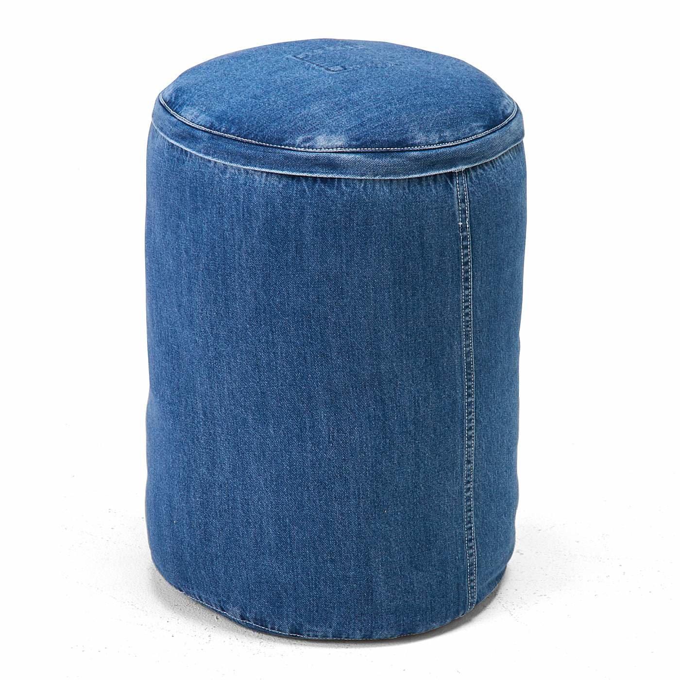 古着屋さんで見つけたような布団収納 デニムボルスタークッションカバーの会
