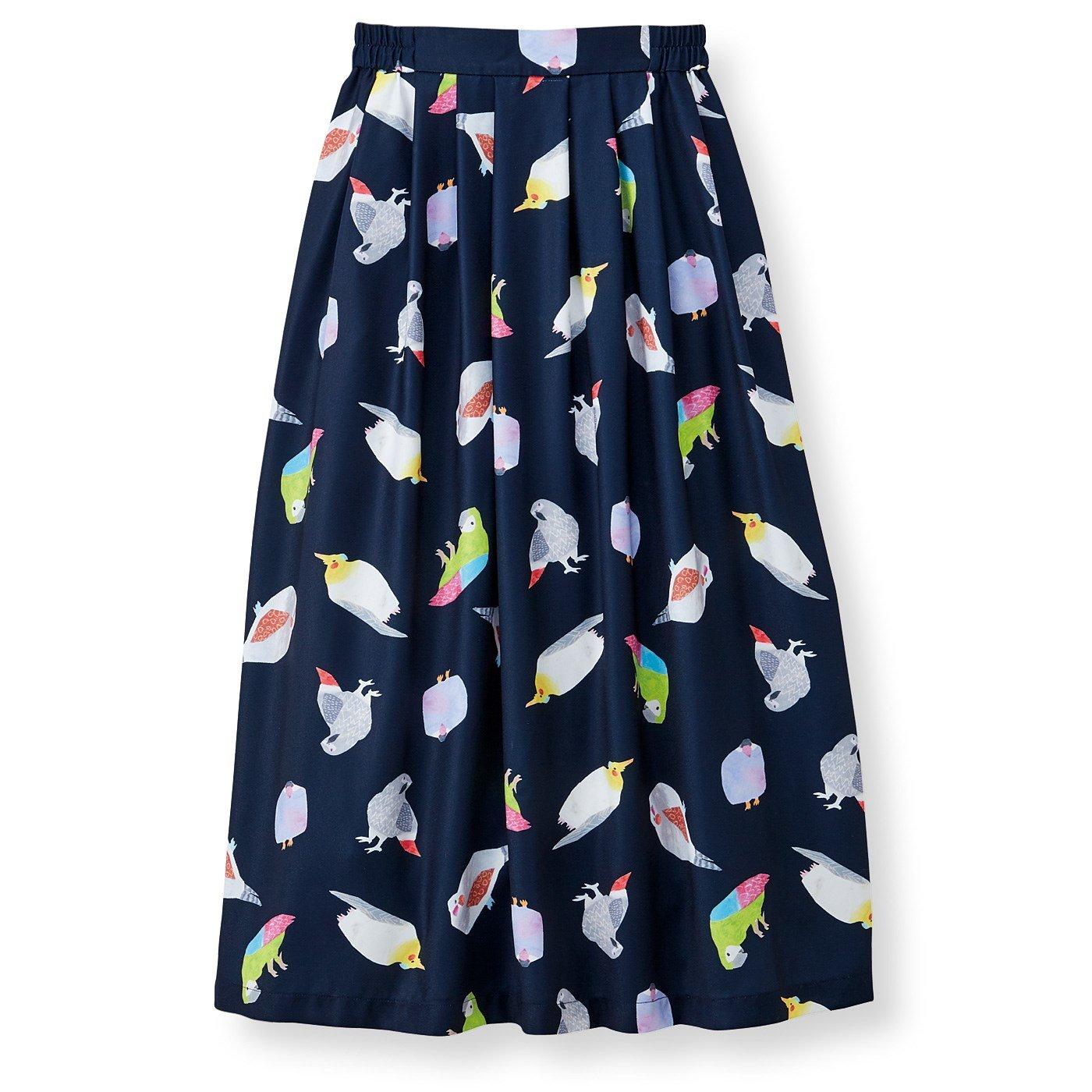イラストレーター 山口ちよ子さんとつくった 小鳥たちプリントスカート