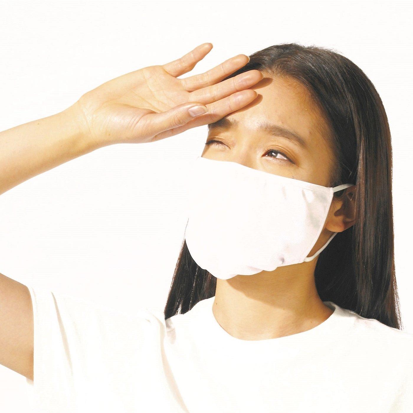 さっと着脱で本格ケア 大型設計のUVカット紫外線対策マスク〈ゴムひもタイプ〉