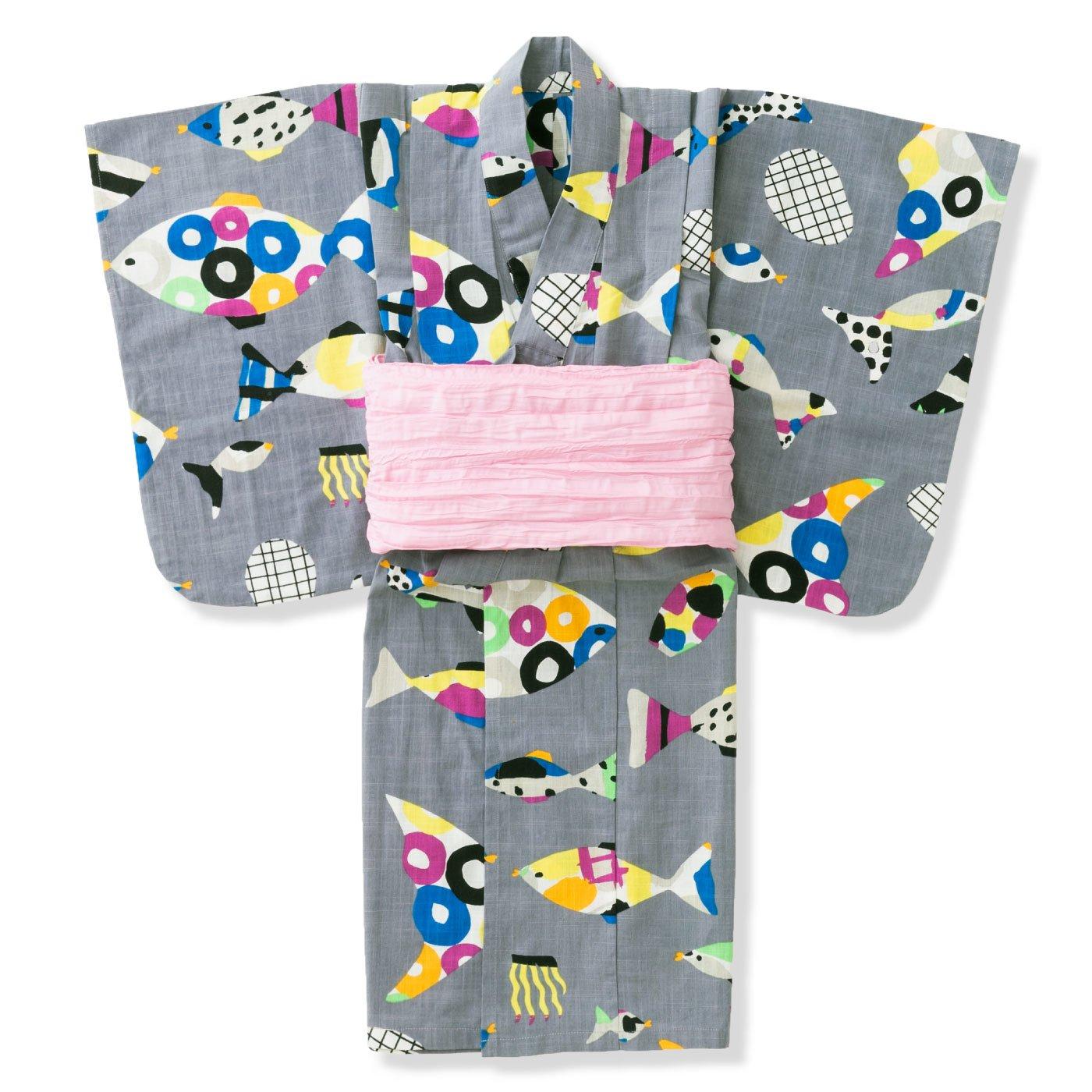 【3~10日でお届け】京都Subikiawa食器店さんとつくった 水中ダンス柄の浴衣(ゆかた)