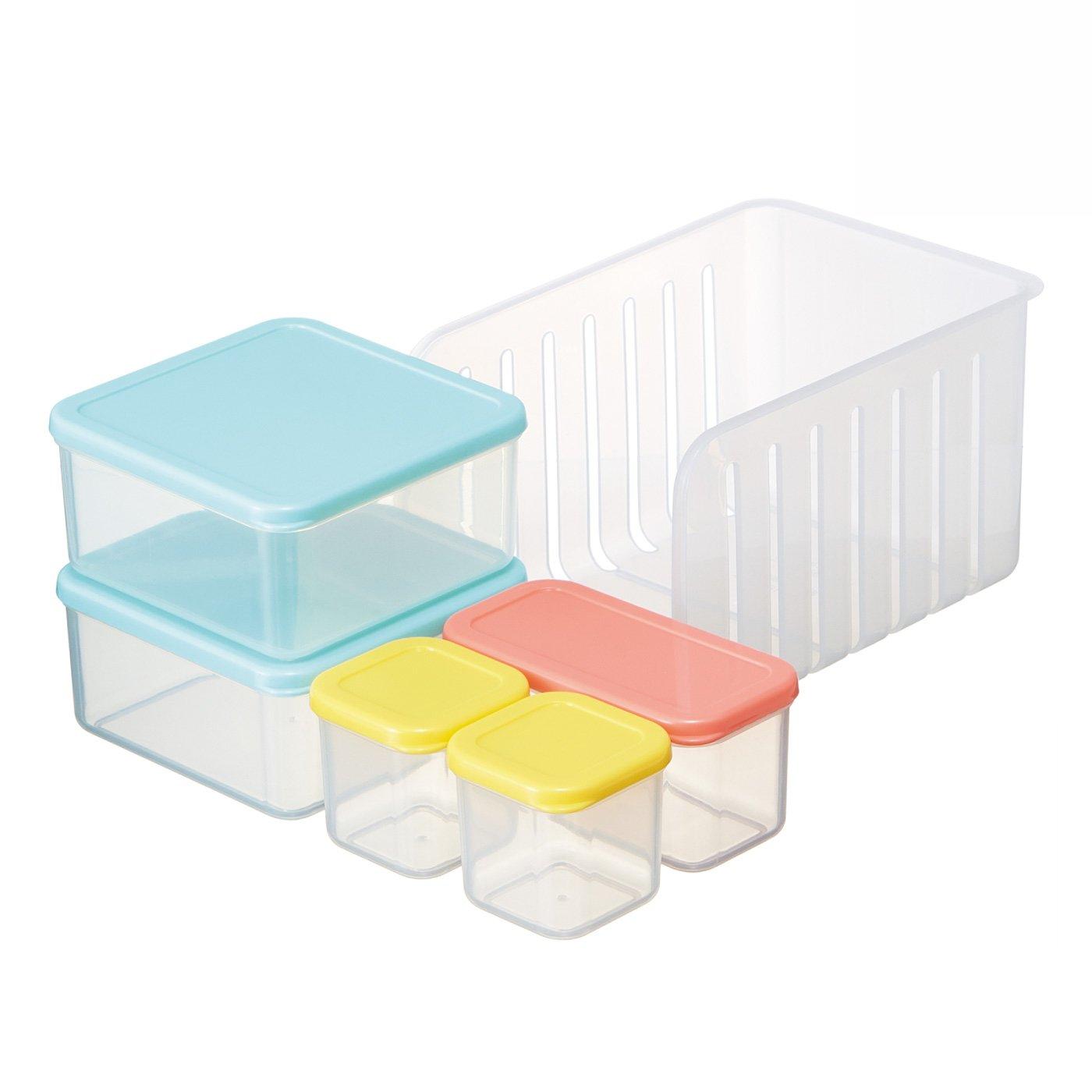 作りおきのおかずの保存に便利な冷凍冷蔵保存5点セット ノルディコット