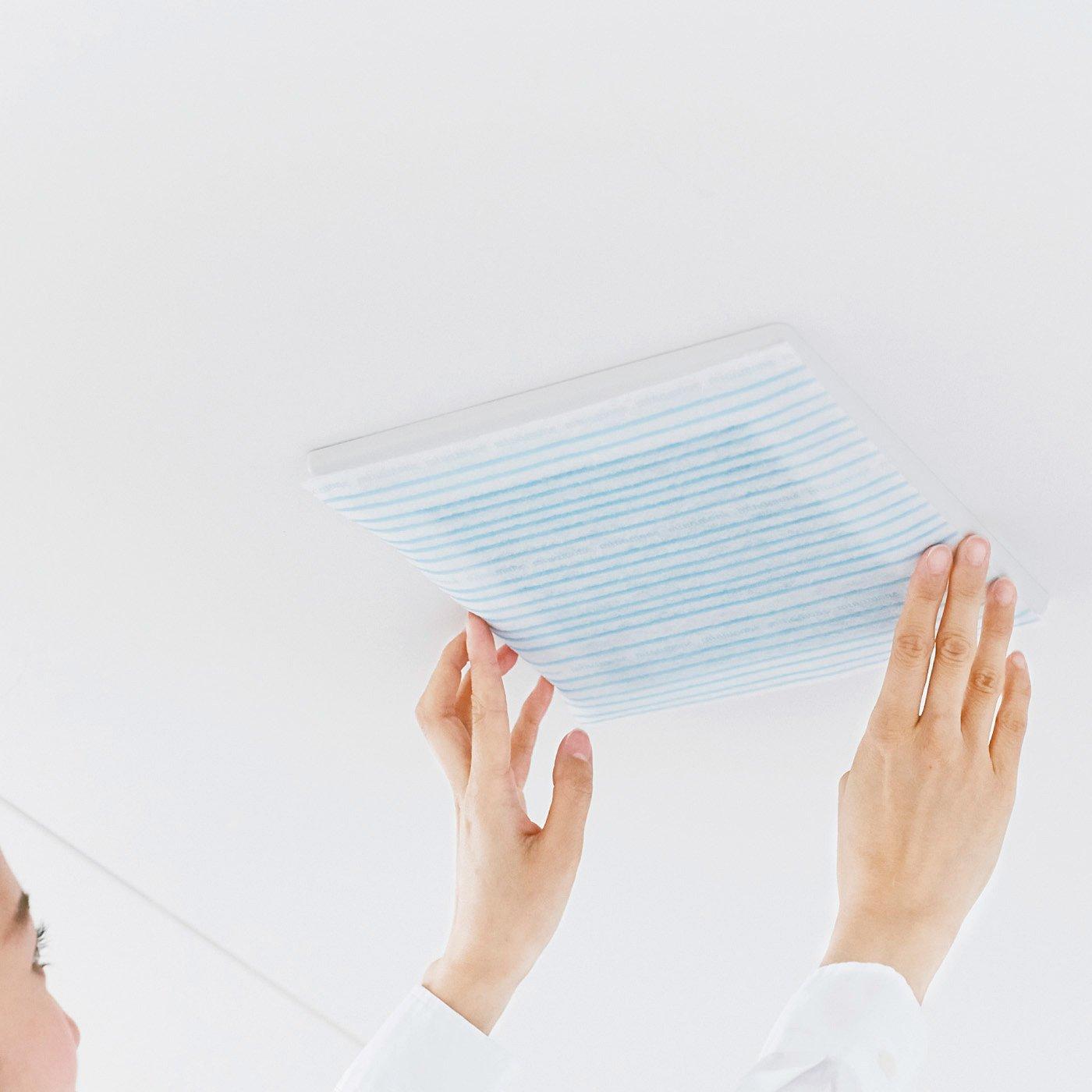 細かいほこりもキャッチ 貼ればお掃除いらずな換気扇フィルターの会