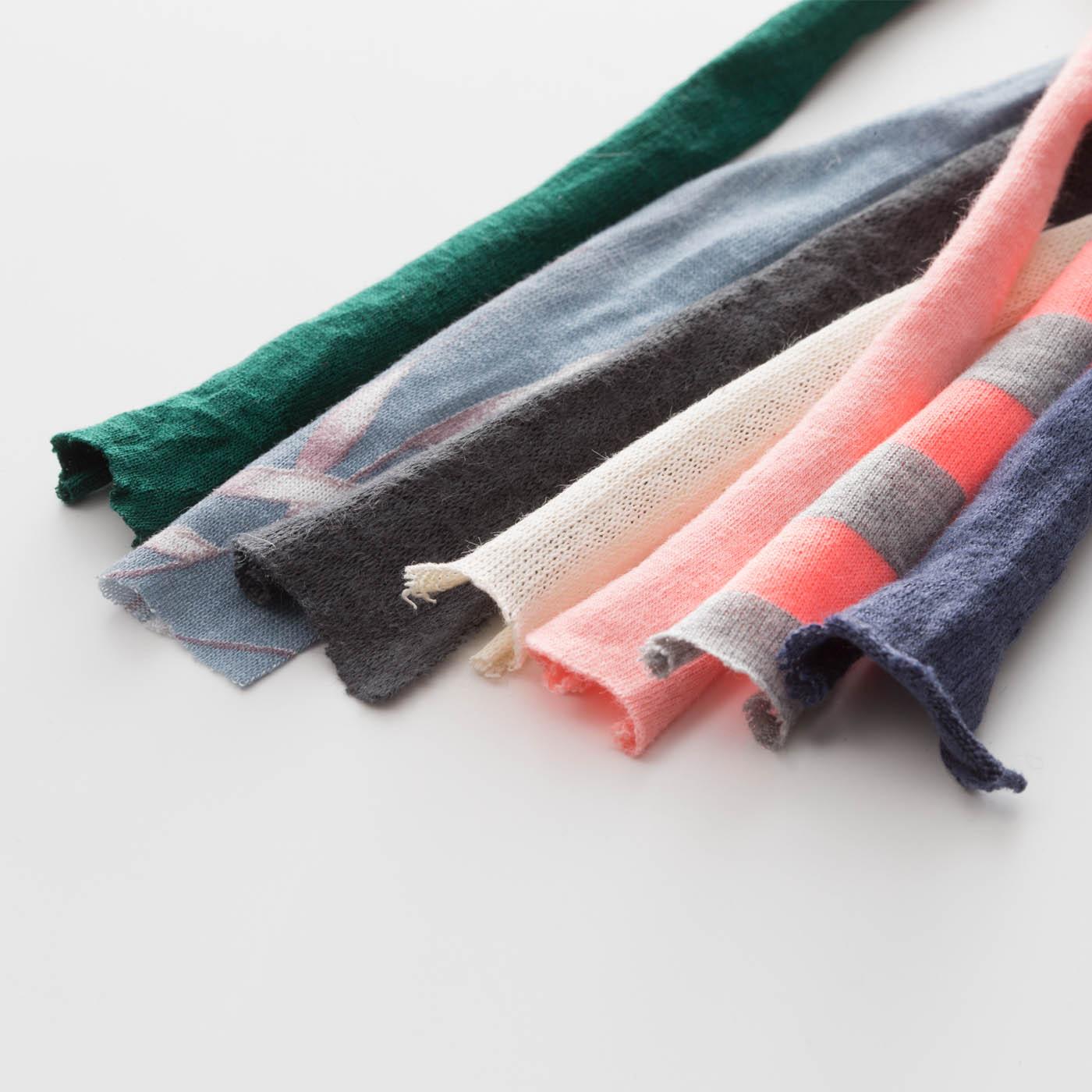 【注意事項】ズパゲッティは色やロットによって、太さや素材感、伸縮性などが異なります。アップサイクル品ならではの一期一会の出会いをお楽しみください。