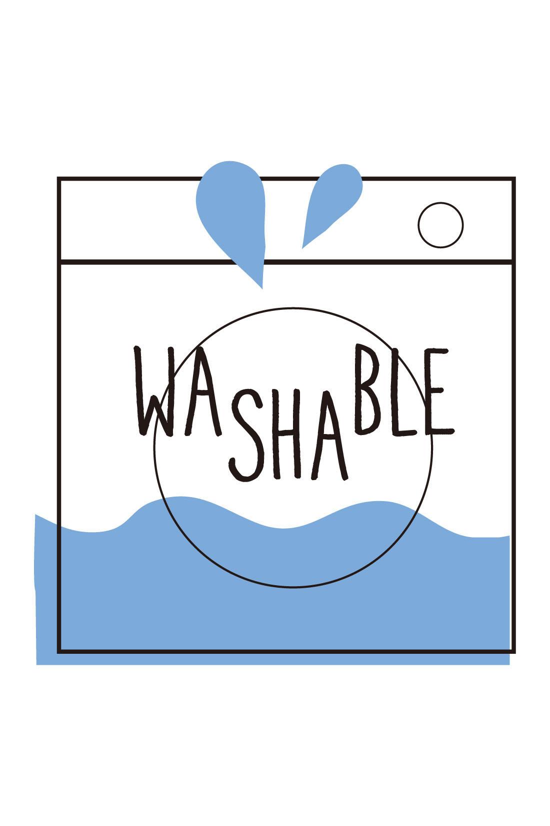 ウォッシャブルの糸を使用し、洗濯機洗い可。