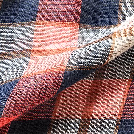 綿100%のダブルガーゼは吸湿性にすぐれて、着るほどに身体になじみます。