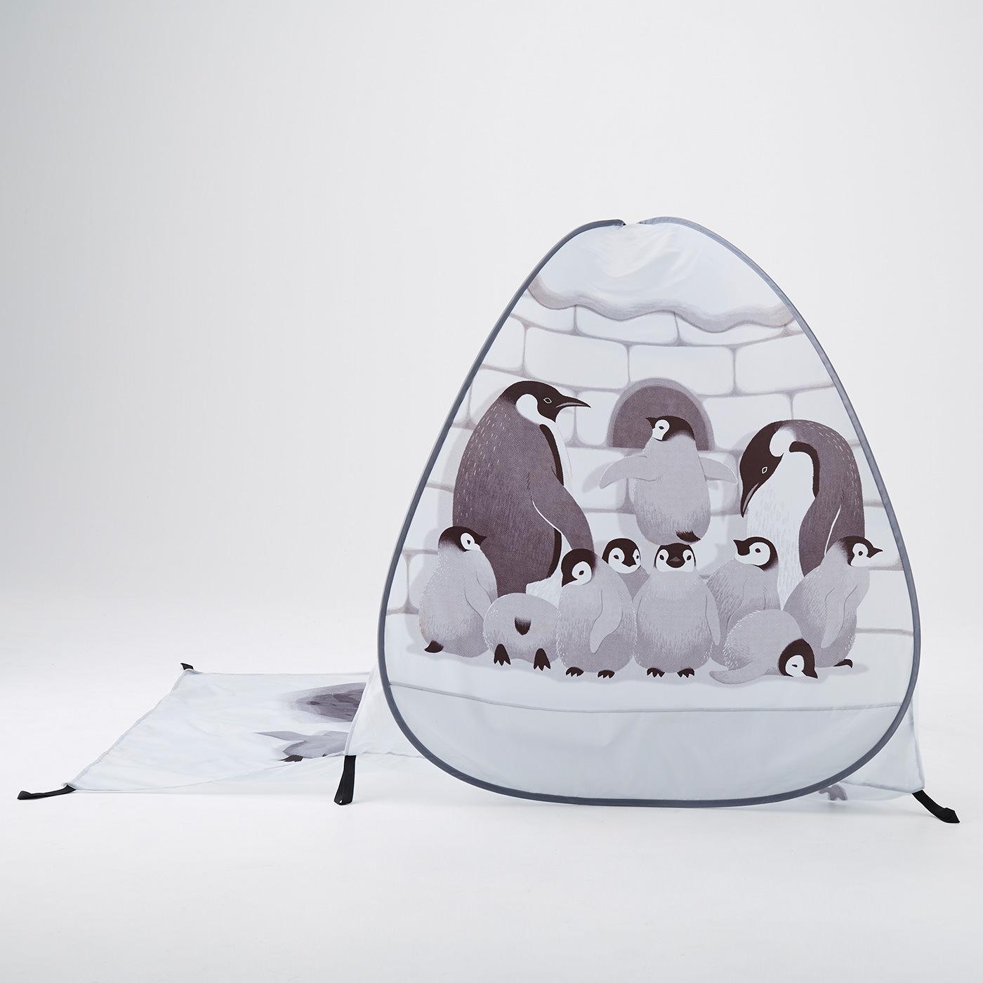 側面にはペンギン一家のイラストが!
