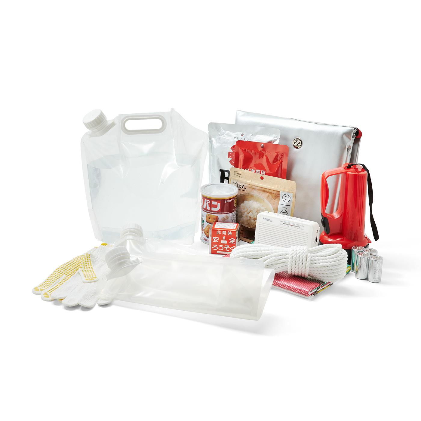 防災バッグの中に入れておけば、もしもの時も大助かり! ※お届けするのはウォーターバッグのみです。