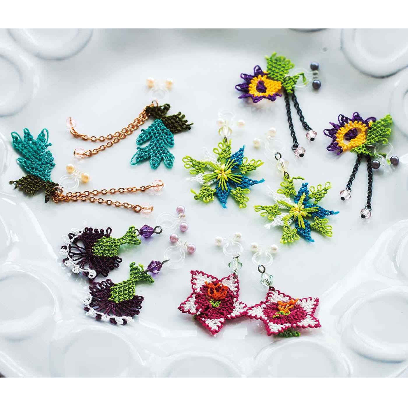 1本の縫い針で編み上げた華奢(きゃしゃ)で愛らしい花々は芸術的!