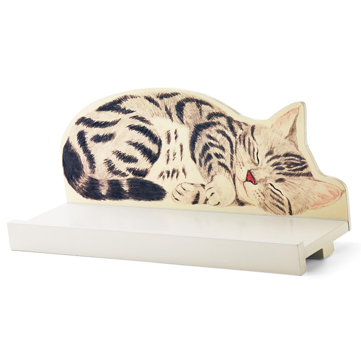 YOU+MORE! 高い所ですやすや眠る 猫のカーテンレール ディスプレイ棚