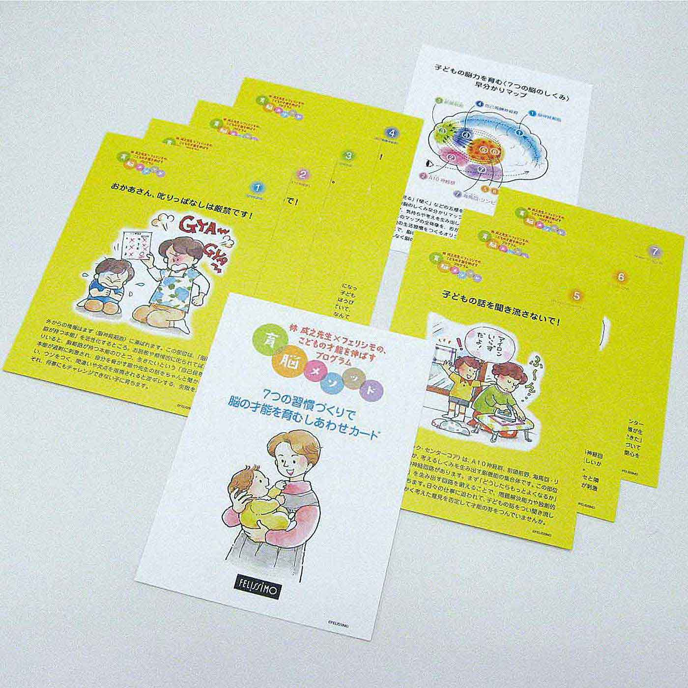 8枚のカードで育脳メソッドが最短で学べます!