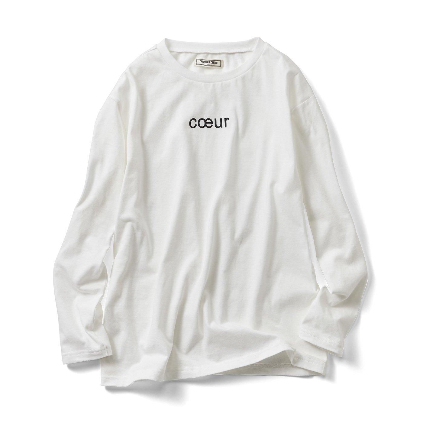 IEDIT[イディット] カリフォルニアコットンの大人ロゴTシャツの会