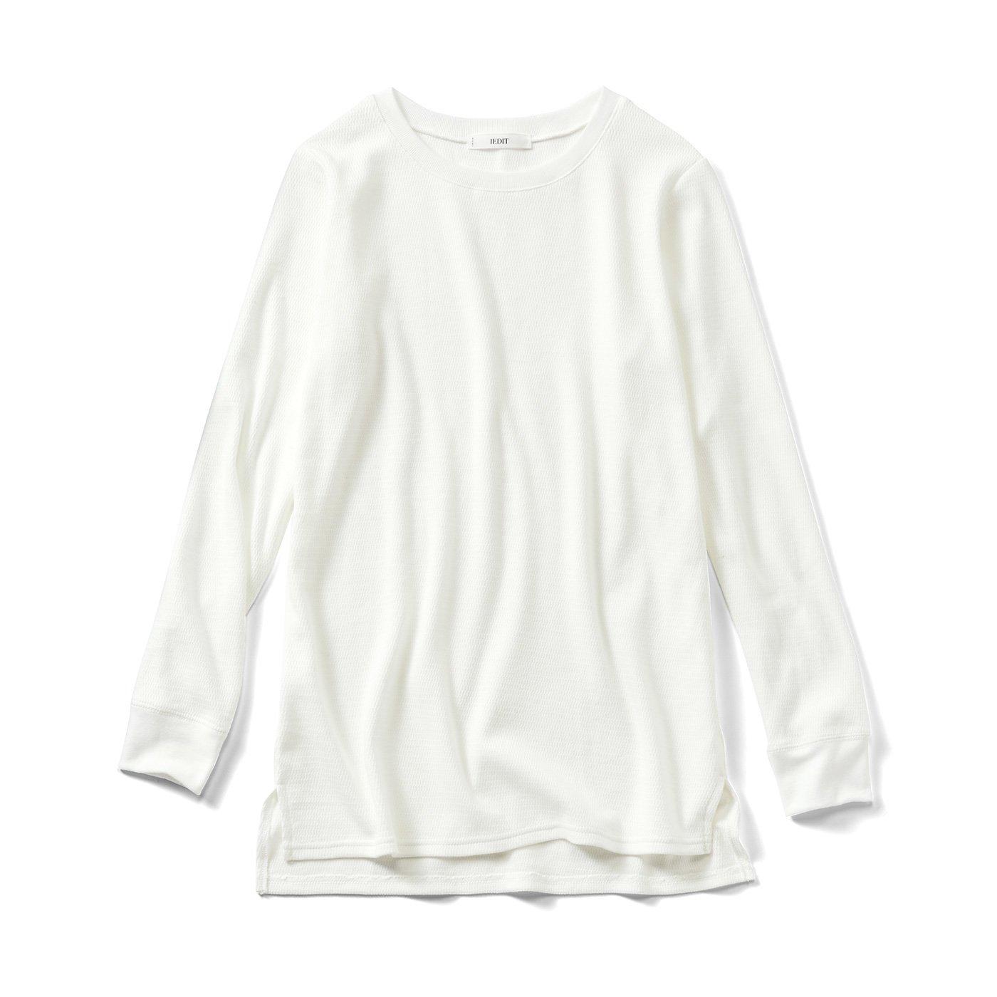 IEDIT[イディット] 着こなし自在 こなれホワイトコットンTシャツの会