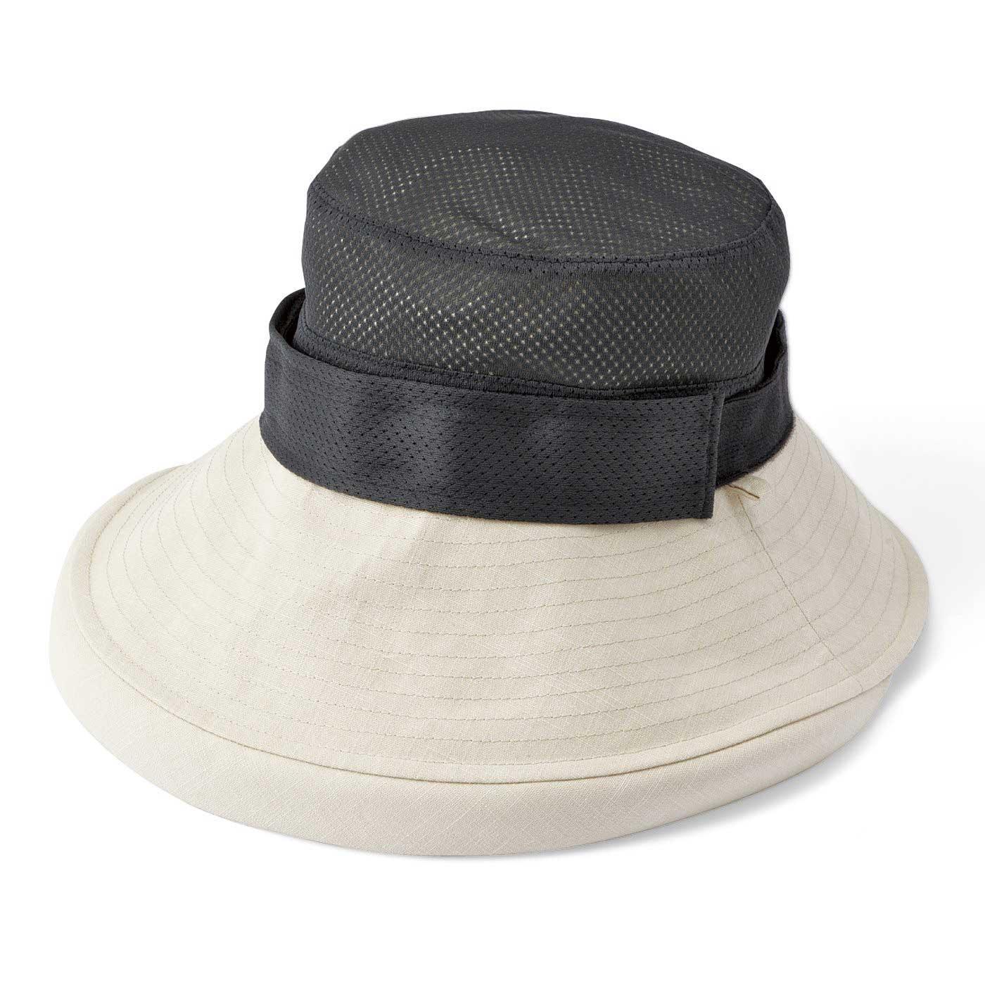 裏側メッシュで快適。着脱可能なライナーで、おでこの汗対策。