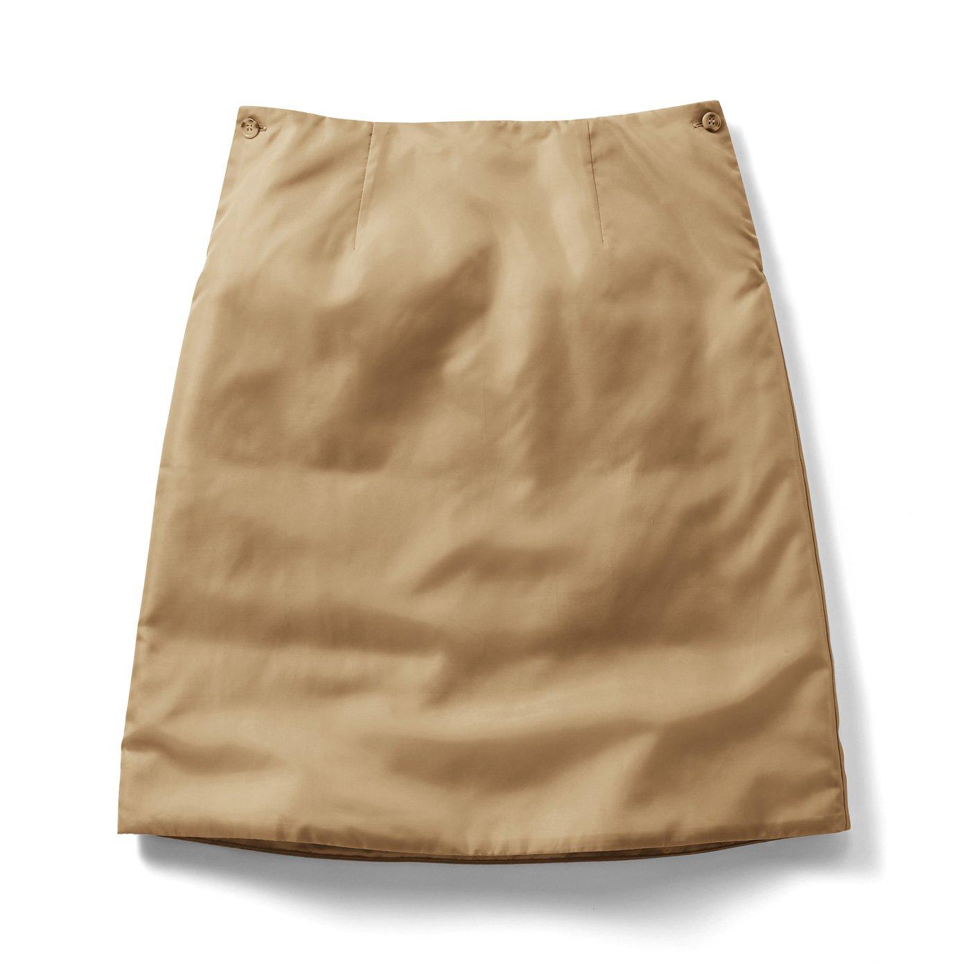 IEDIT[イディット] 寒くてもスカート派!さんの味方 暖かさをプラスする中わた入りインナーペチスカート〈ベージュ〉