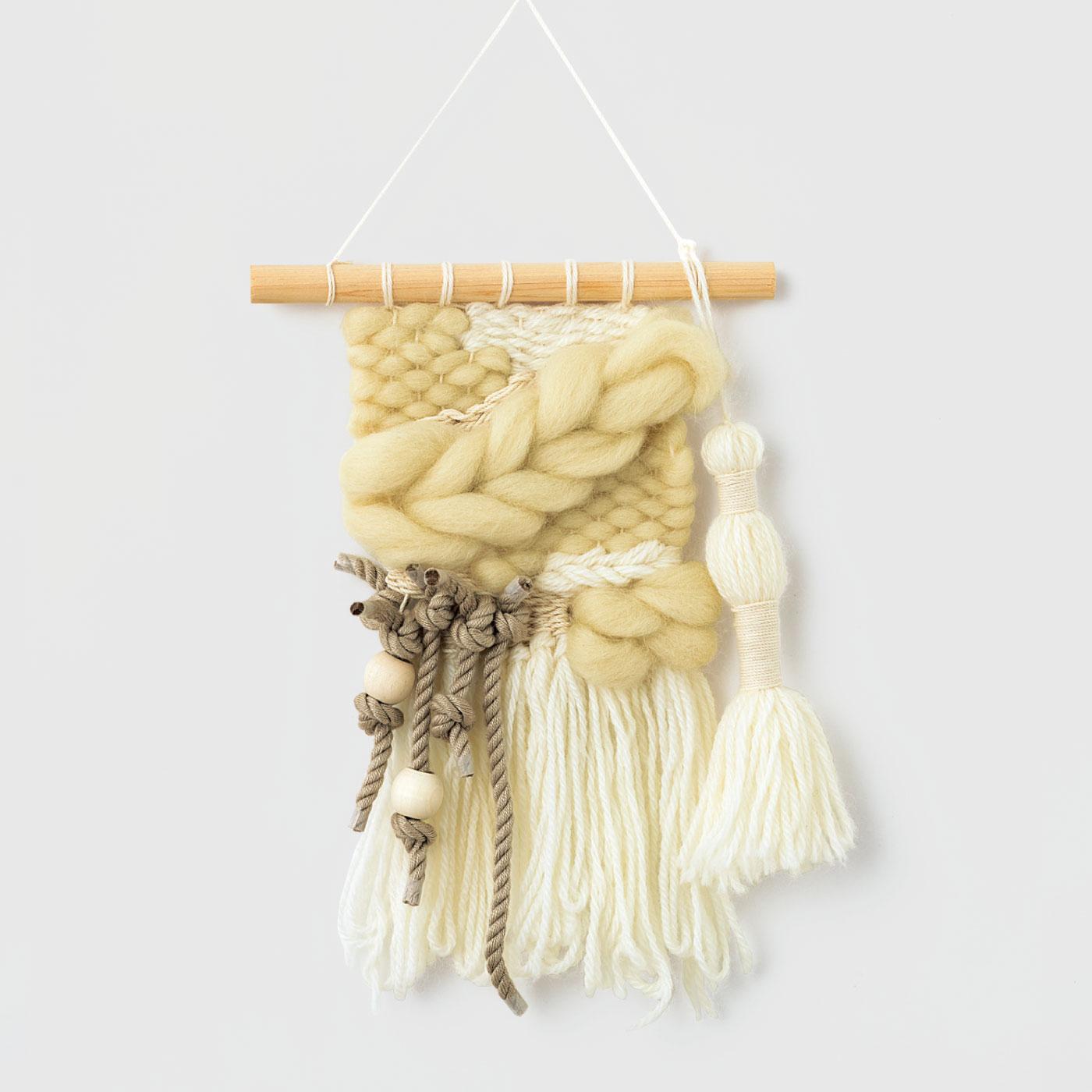 ツイストコードとウール糸のフリンジ