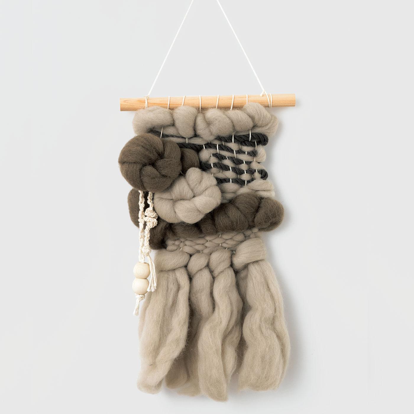 ウールの平織り