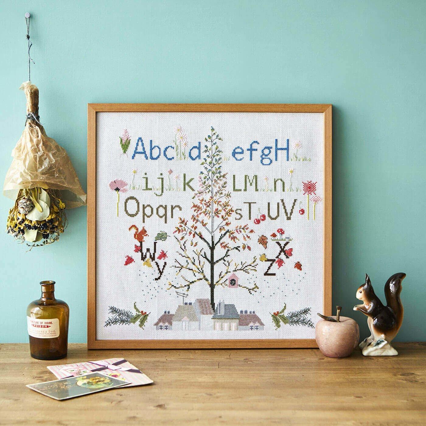 アルファベットサンプラー Four Seasons ABC クロスステッチキット