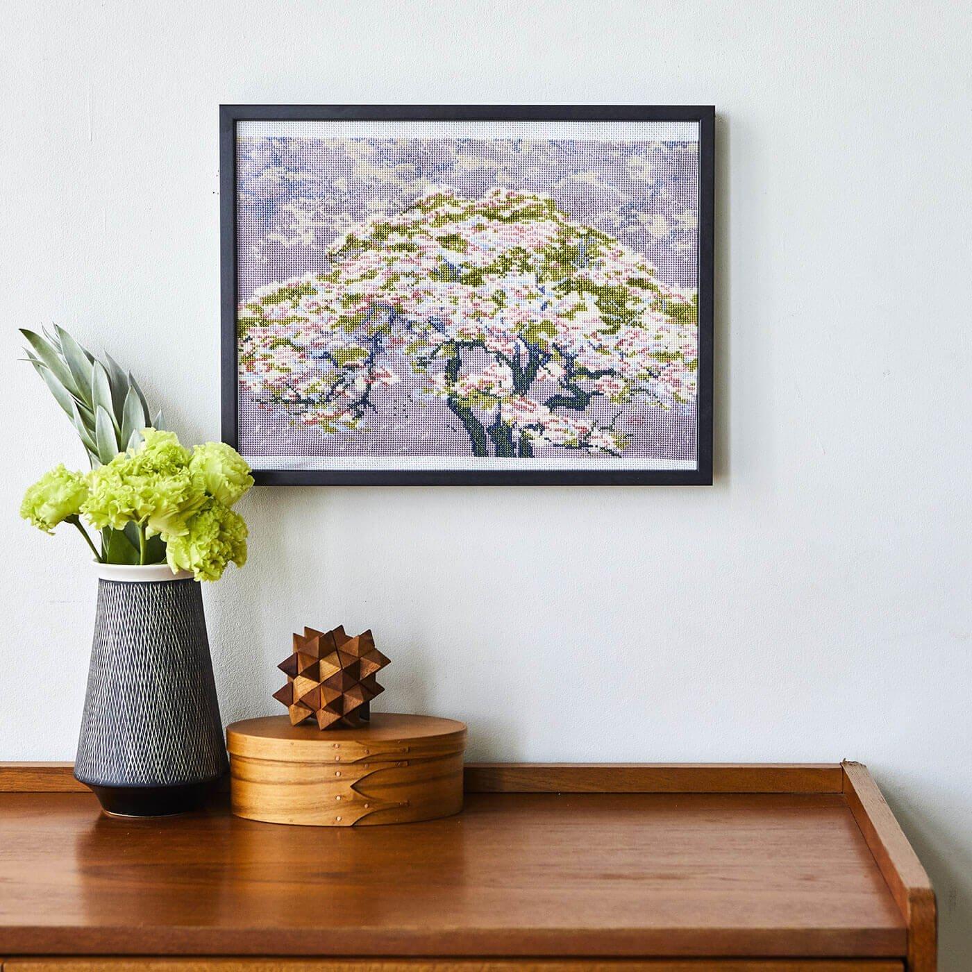 DMC×大英博物館 ウィリアム・ジャイルズ「花の木」(大)クロスステッチキット