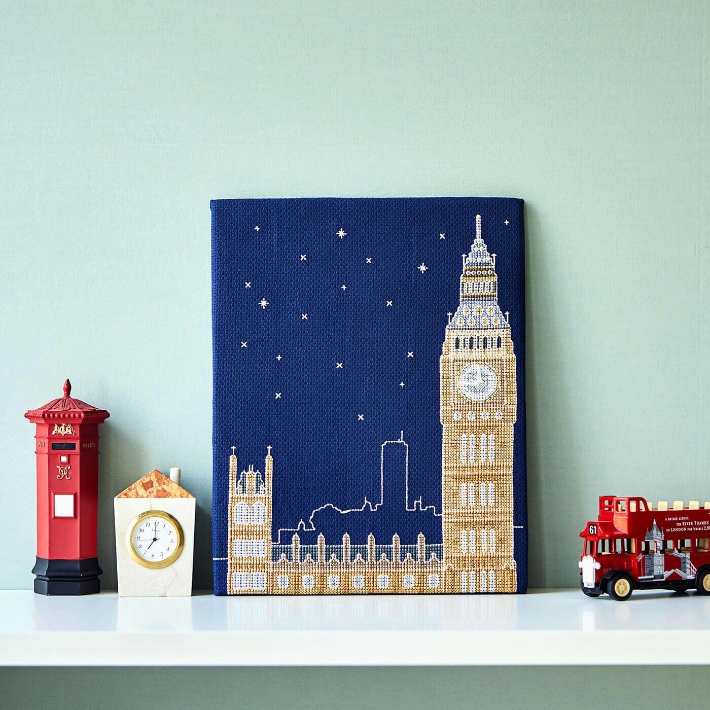 暗闇で光り輝く London by Night クロスステッチキット
