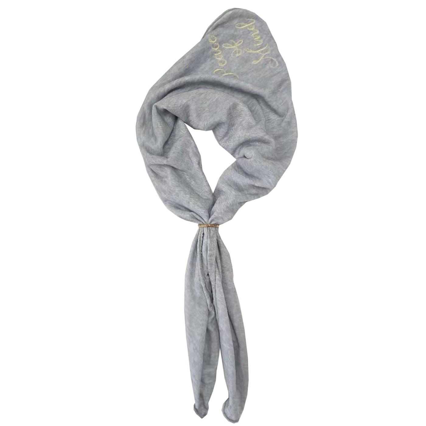 IEDIT[イディット] SELECT リング付きスカーフ〈グレー〉W19-0103