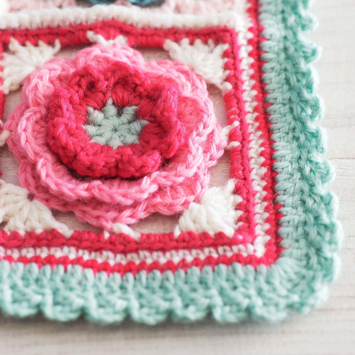 マカロンカラーモチーフのふち編み用毛糸