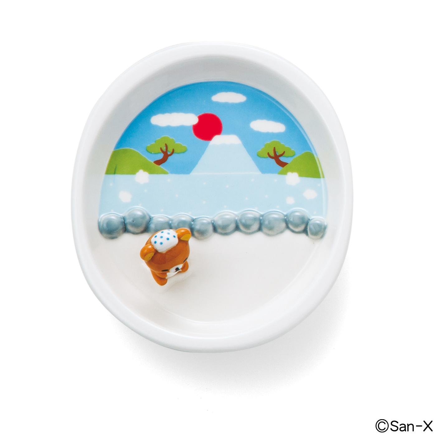フェリシモ リラックマ お皿の上でだららん  リラックス気分のななめ底ミニプレートの会【定期便】