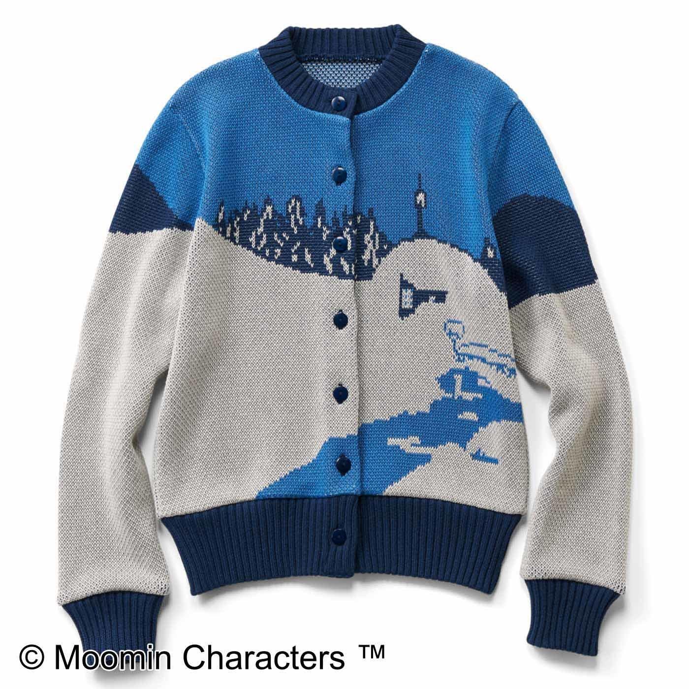 ムーミン 冬のムーミン谷ニットカーディガン〈ブルー〉