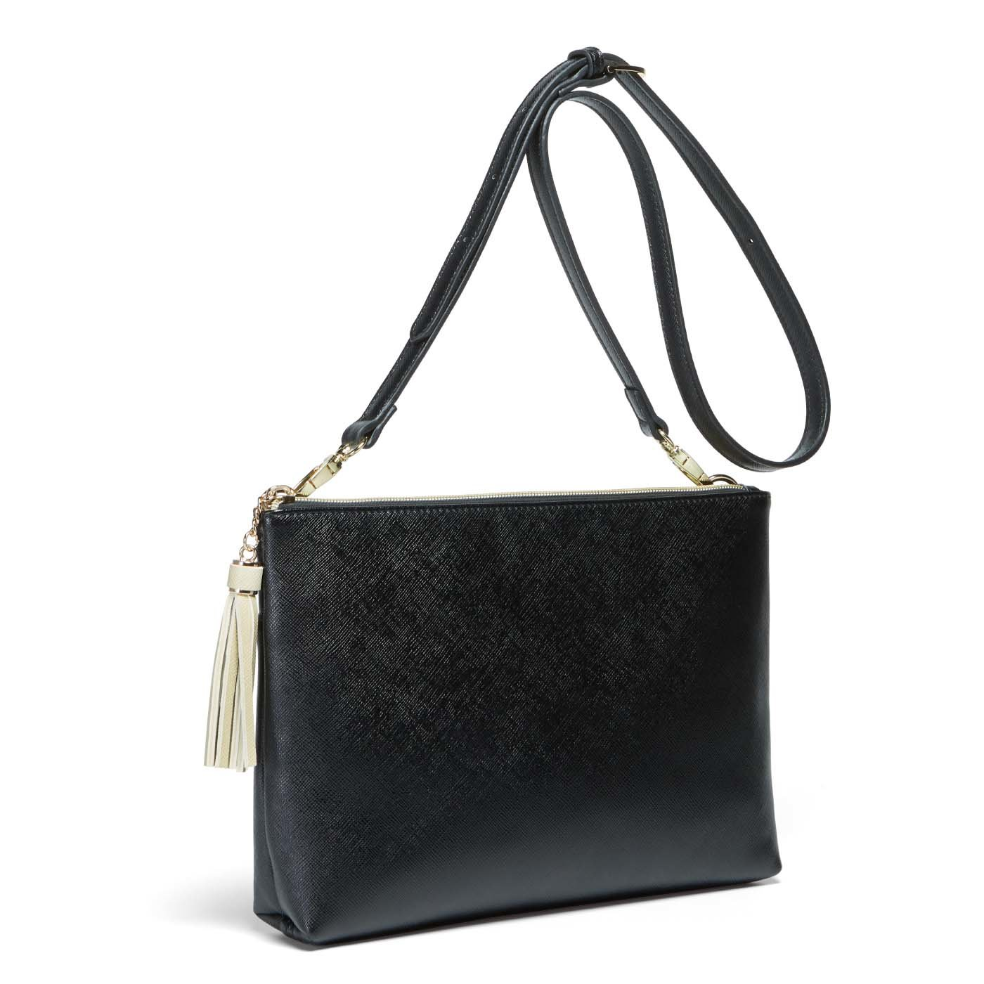 IEDIT[イディット] 街歩きにピッタリな大人好みのきれいめトラベルバッグセット〈ブラック〉