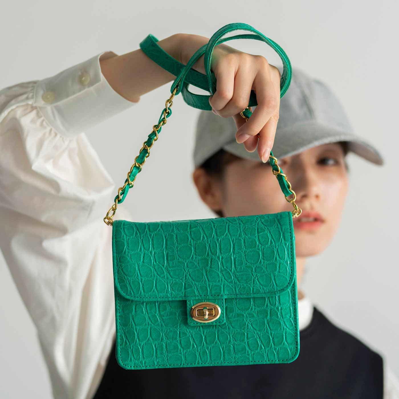 プランナーMOEが欲しかった 職人本革のキャラメルバッグ〈エメラルドグリーン〉