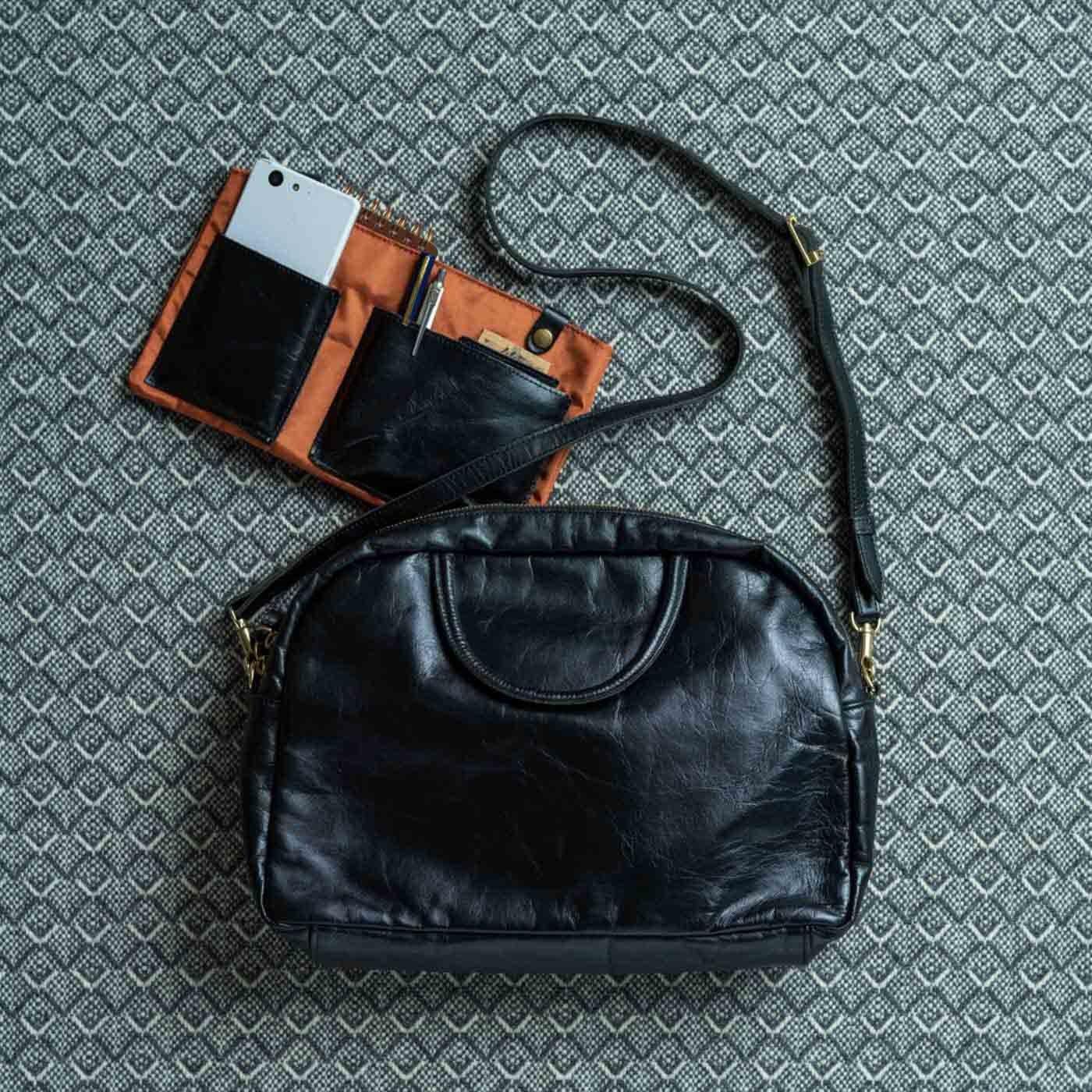 ファッションスタイリストと作った 職人本革のエチューデントバッグ〈ノアール〉