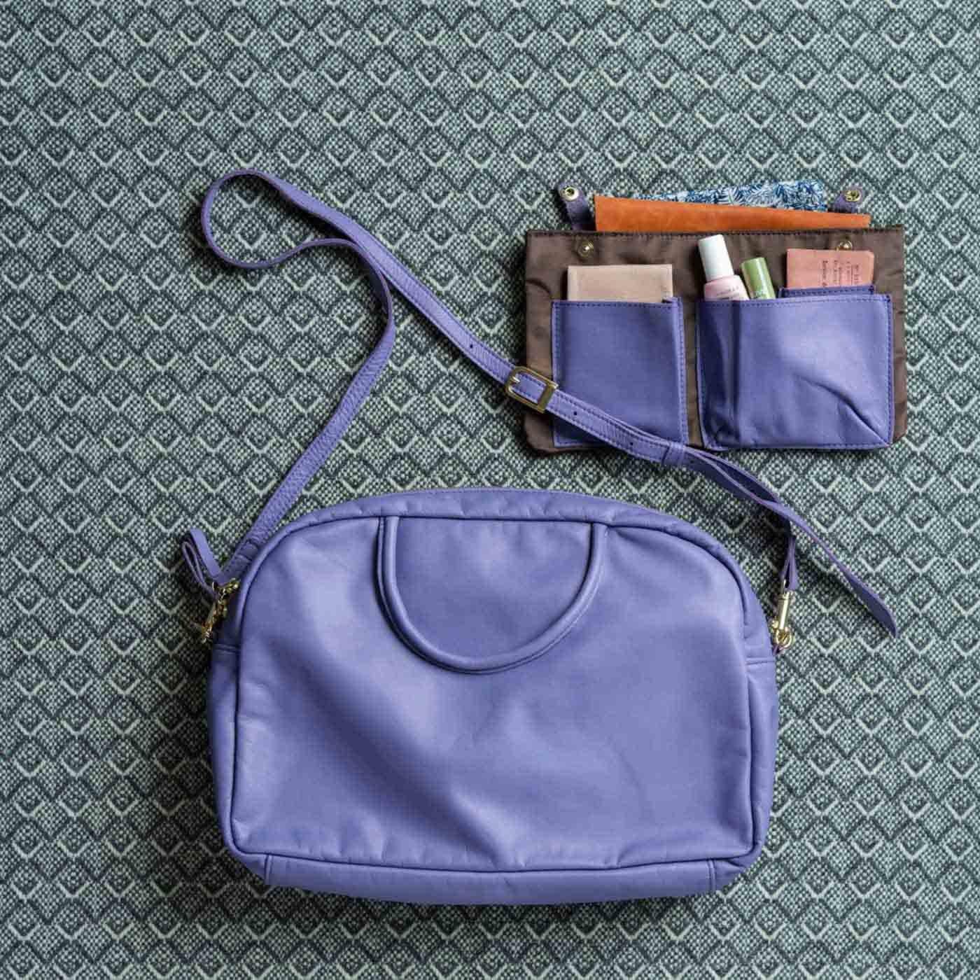 ファッションスタイリストと作った 職人本革のエチューデントバッグ〈ラベンダー〉