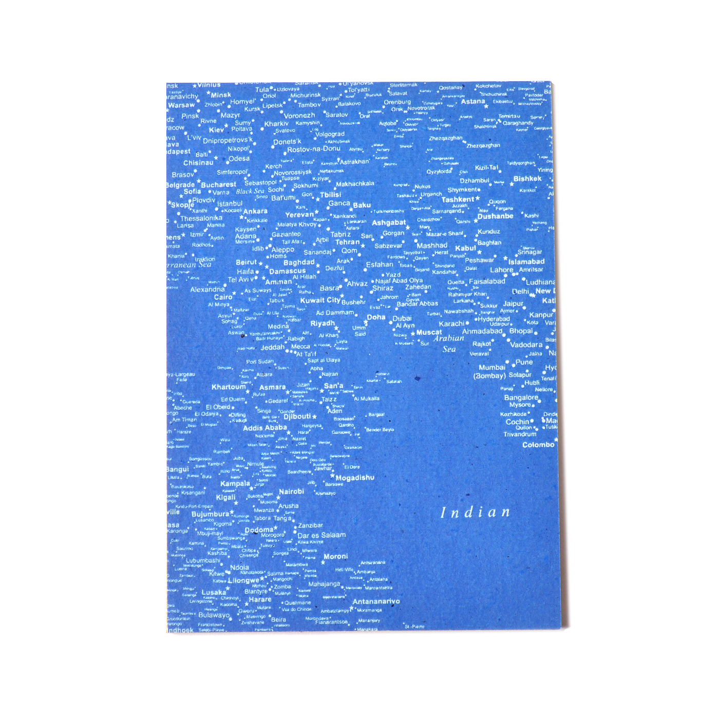 フェリシモ PEACE BY PEACE コットンプロジェクト コットンペーパー 一筆箋メモ ボーダレスマップ〈大〉の会