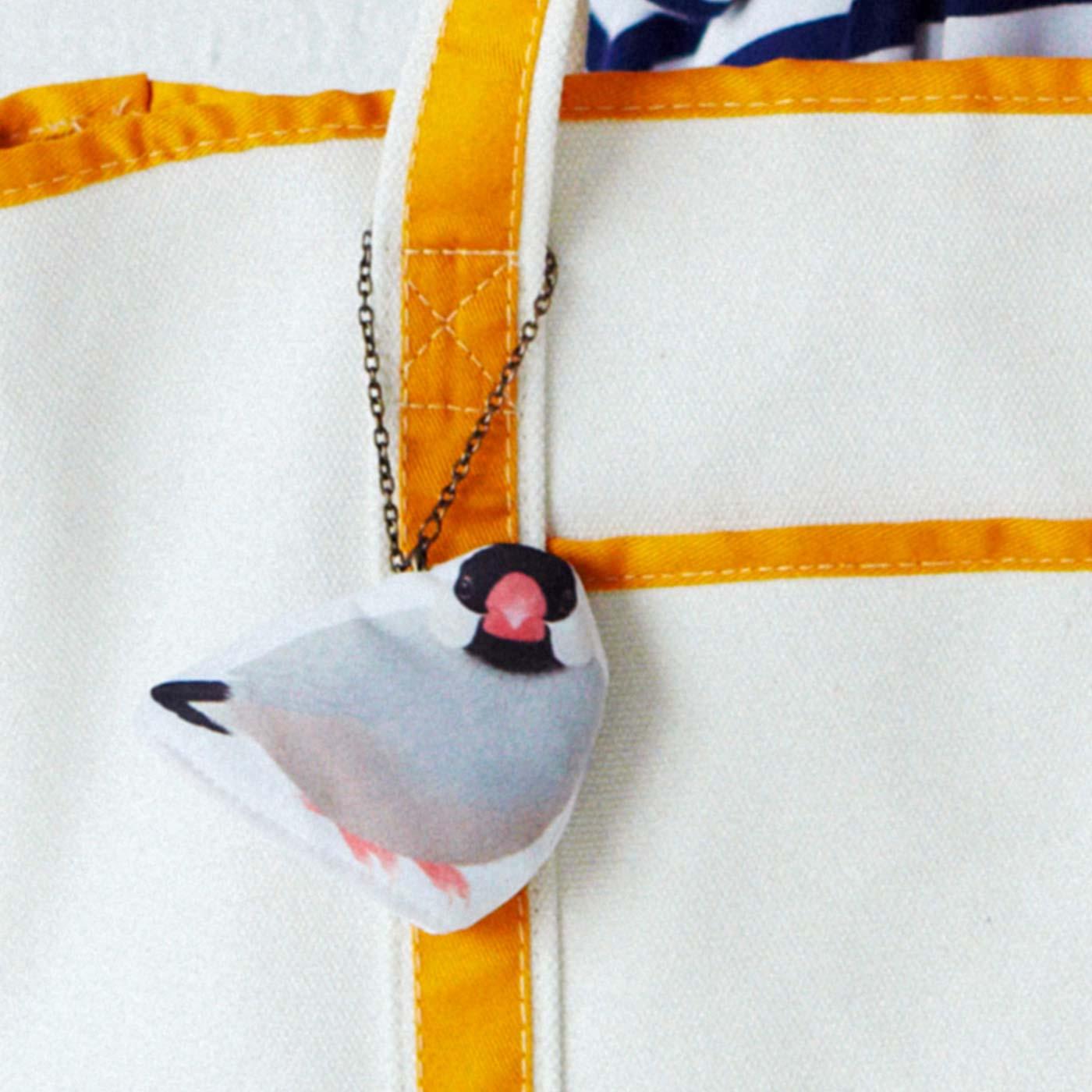 バッグの内側につけて小鳥と一緒にお出かけ!