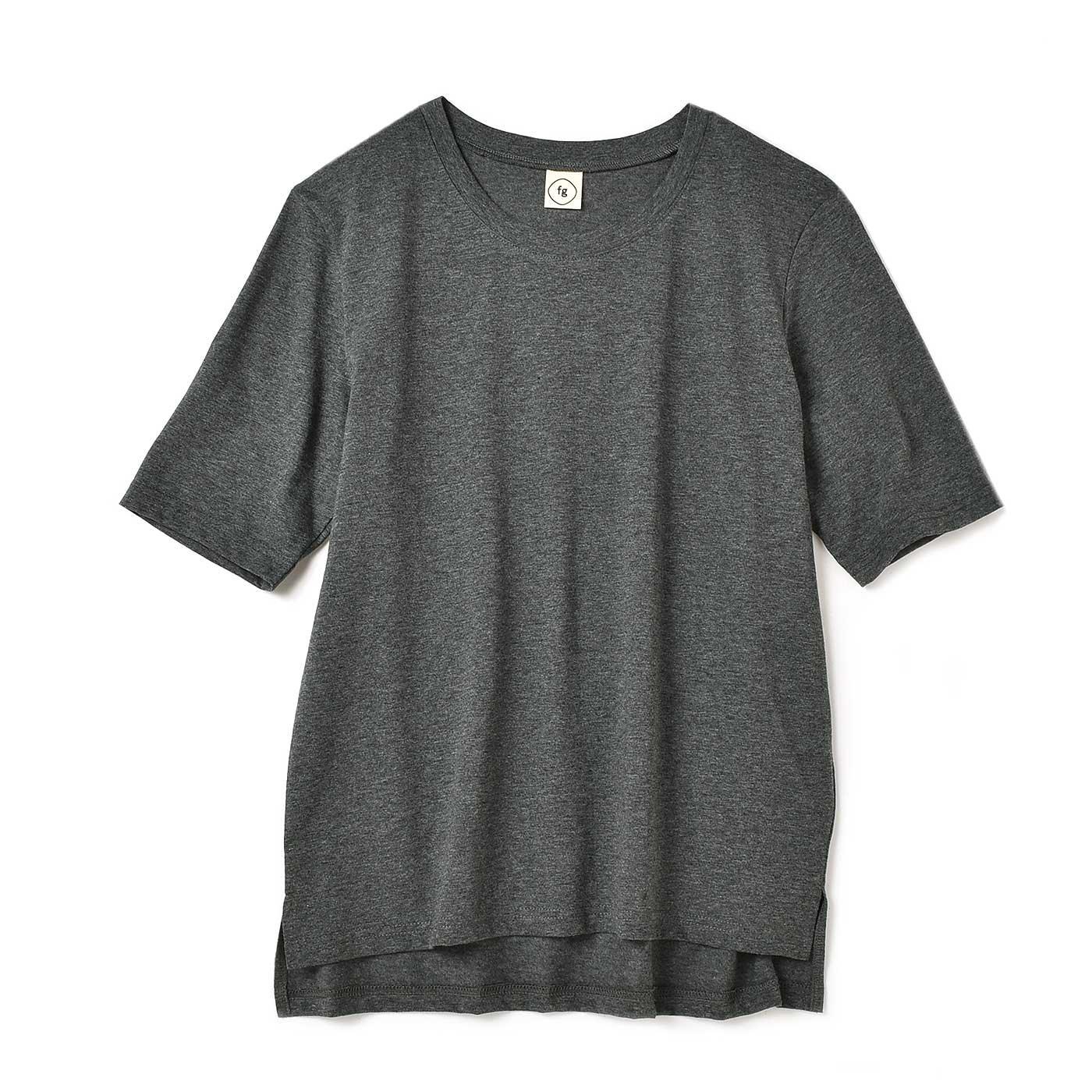 フラウグラット 定番ヘビロテ♪ ニュアンスグレーの 汗じみ対策Tシャツ〈18〉