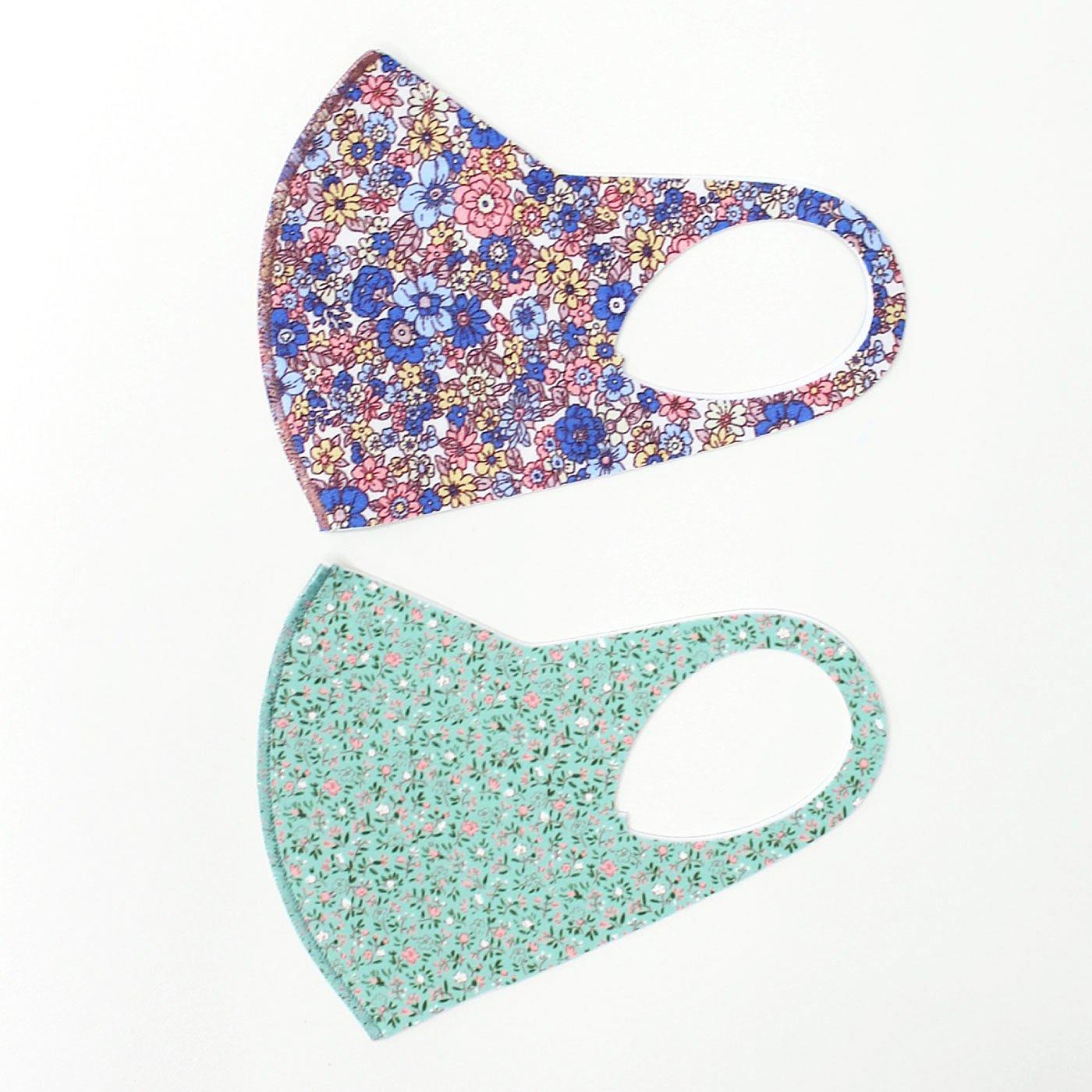 【WEB限定】IEDIT[イディット] つけると気持ちが明るくなりそうな 小花柄がかわいいプリント布マスク