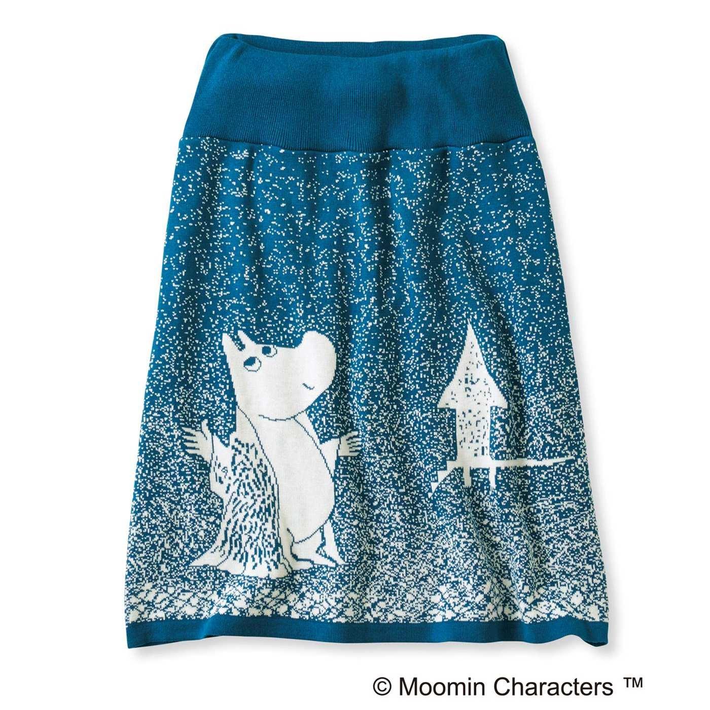 ムーミンと仲間たち 雪の日柄のインナーパンツ付き ニットスカート(ムーミン)