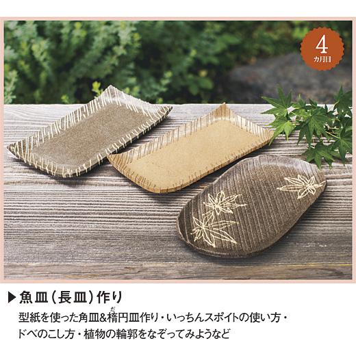 セット内容 陶土(黒豆色約500g 1個・きな粉色約500g1個)、先端金具付きいっちんスポイト、ガーゼ(約30cm×約50cm)、型紙