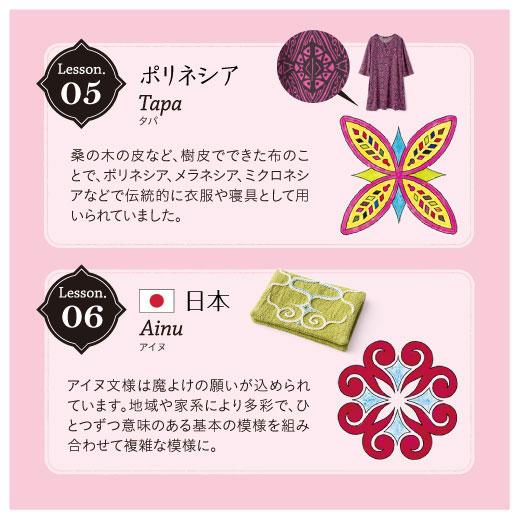 Lesson05:ポリネシア、タバ。Lesson06:日本、アイヌ。