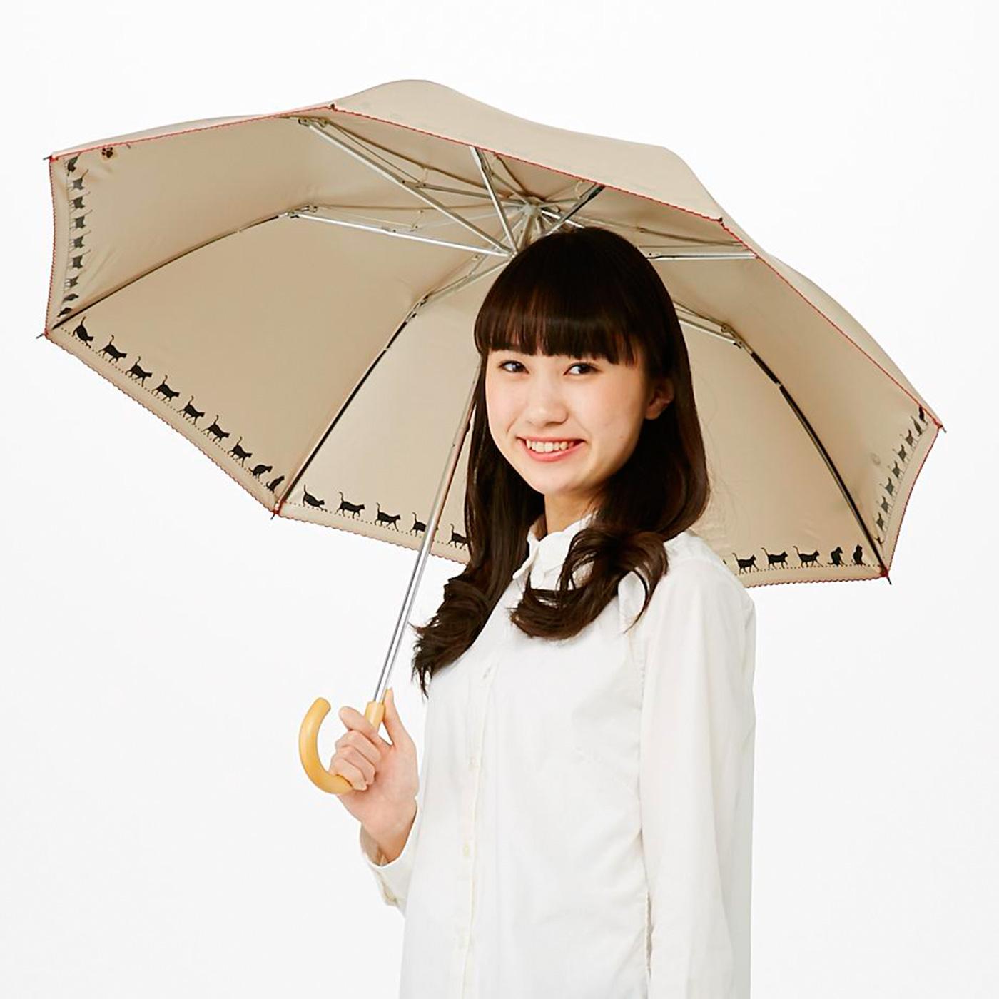 開閉スムーズ UVカットニャンブレラ〈晴雨兼用傘〉