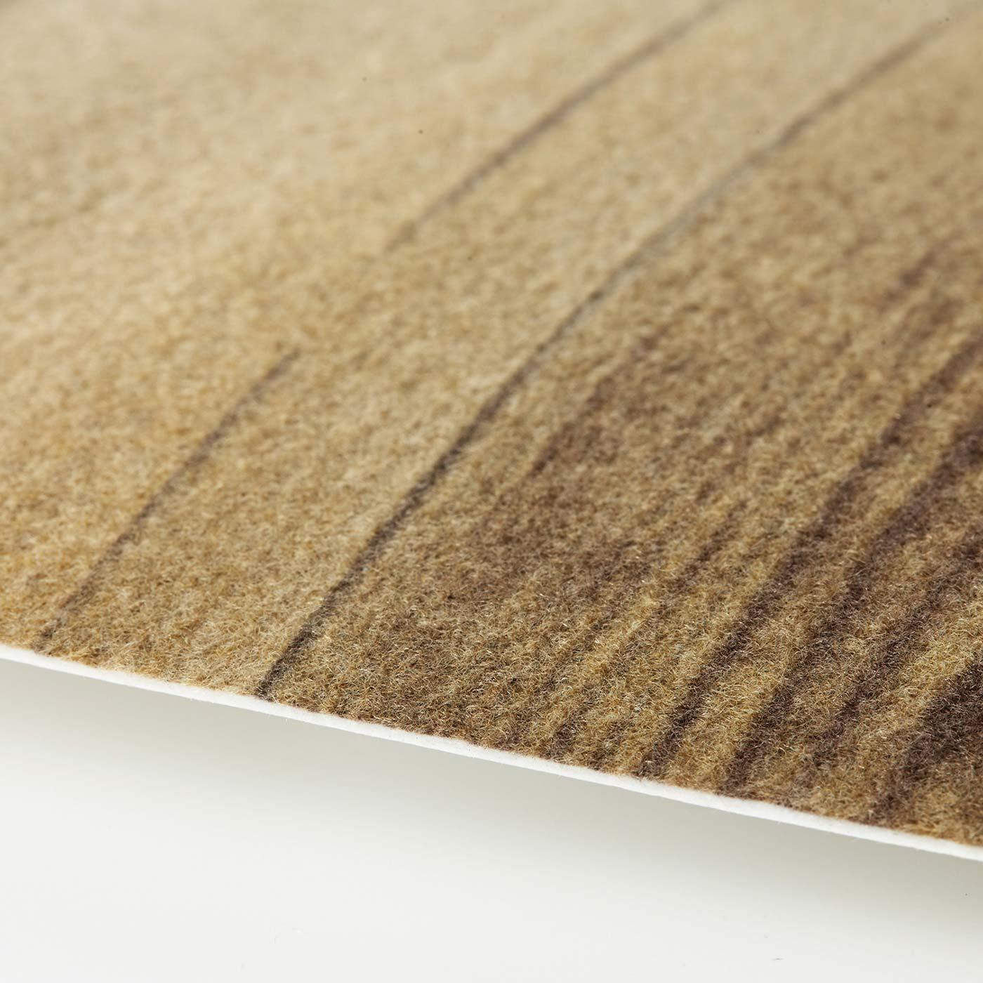 ふわふわの不織布素材が、水はねやほこりをキャッチ。汚れたら手洗いOK。