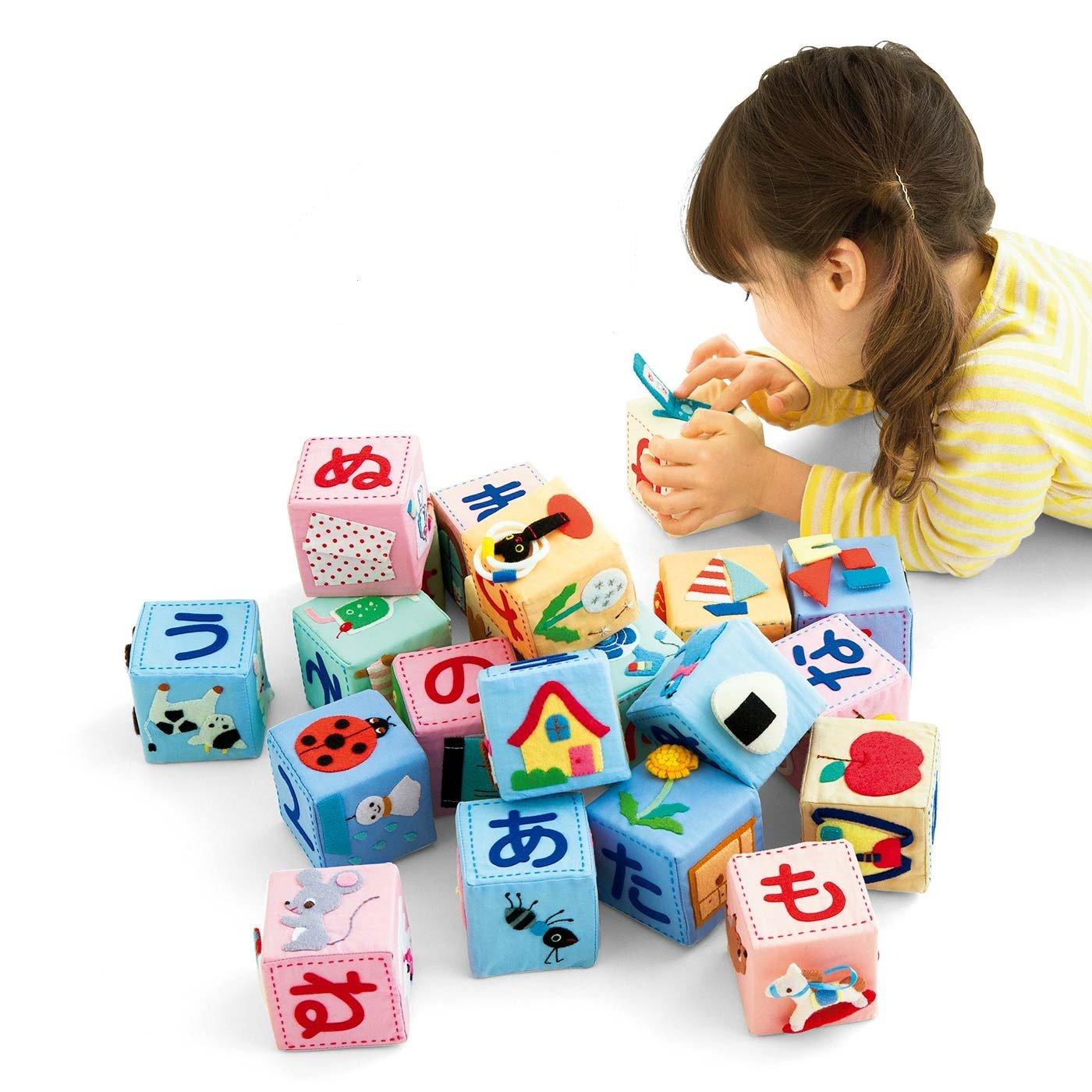 見てさわって遊びながら覚えちゃう! 型抜き済みフェルトで作るコロコロ文字ブロックの会