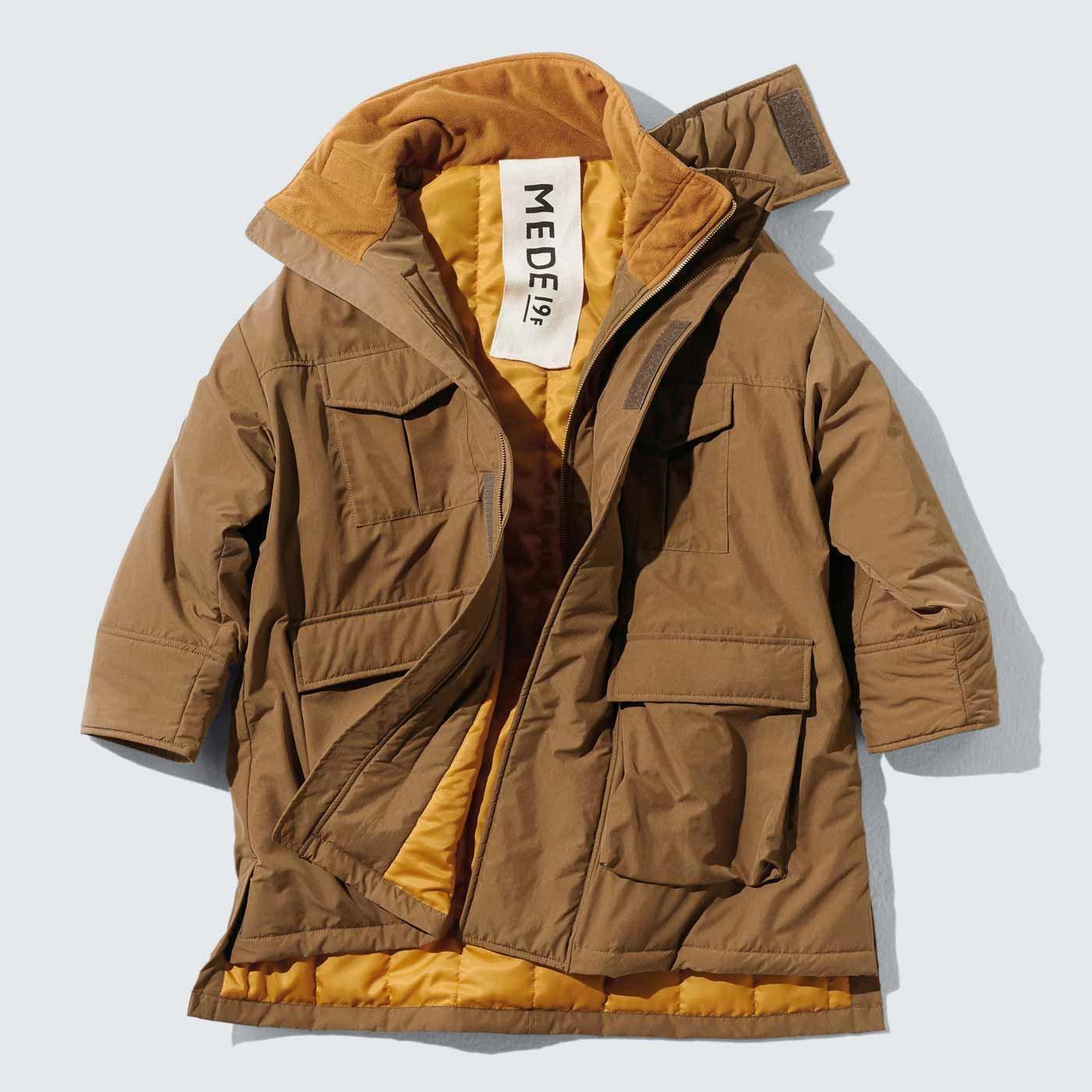 MEDE19F オーバーサイズミリタリージャケットコート〈ベージュ〉