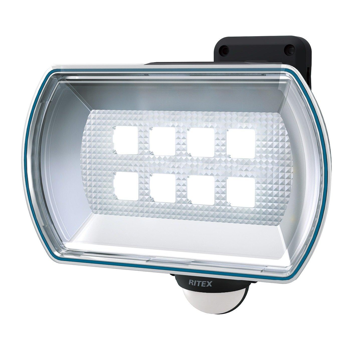 照射方向が自在 明かりで安心 乾電池式 LED屋外人感センサーライト