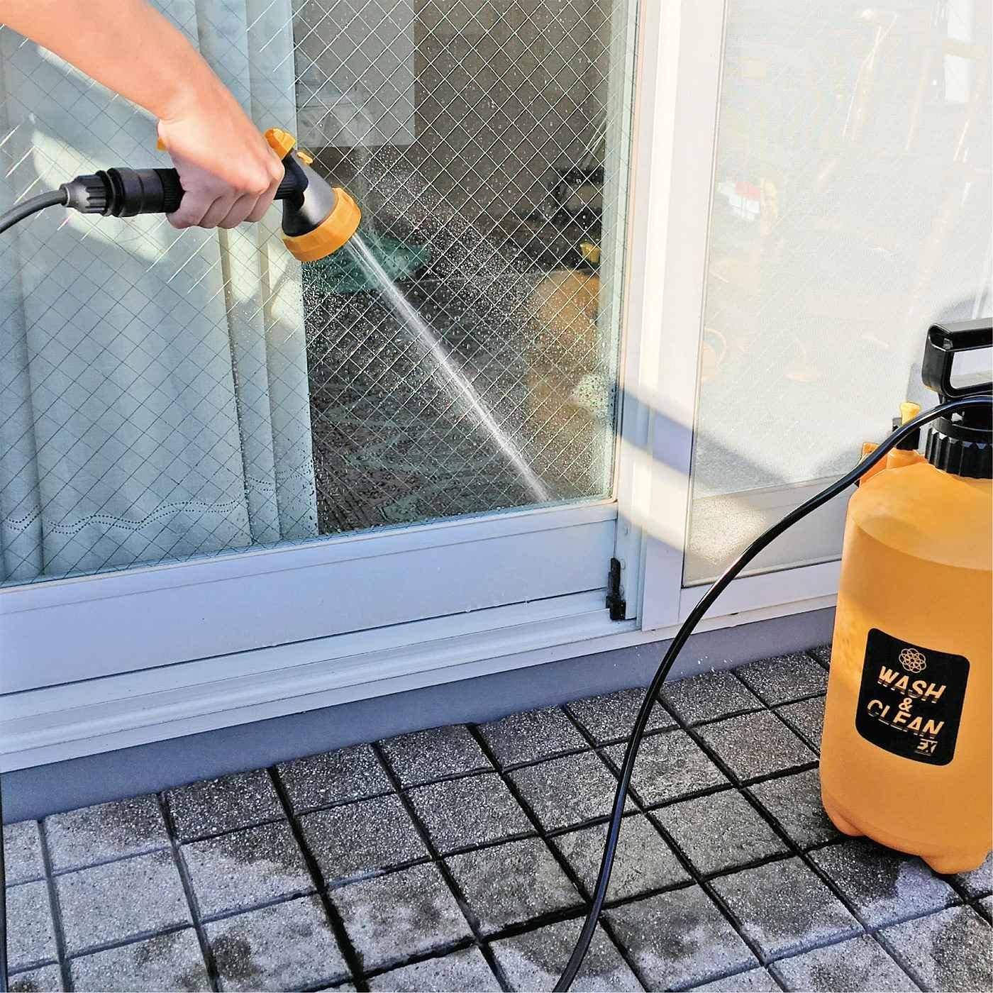 水道・電気がなくてもしっかり洗える ポンプ式お掃除水圧クリーナー
