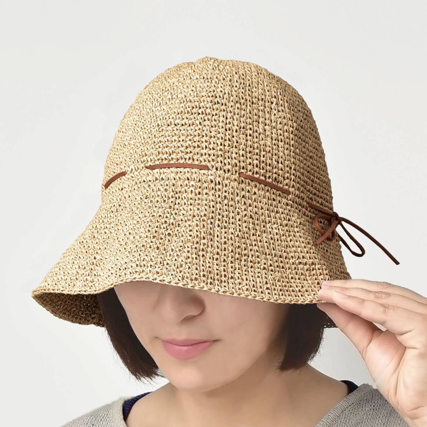 SASAWASHI 風通るさわやか手編みハット