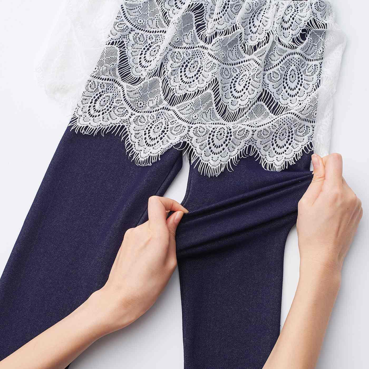 パンツ部分は伸縮性抜群! よーく伸びて、動きにフィット。
