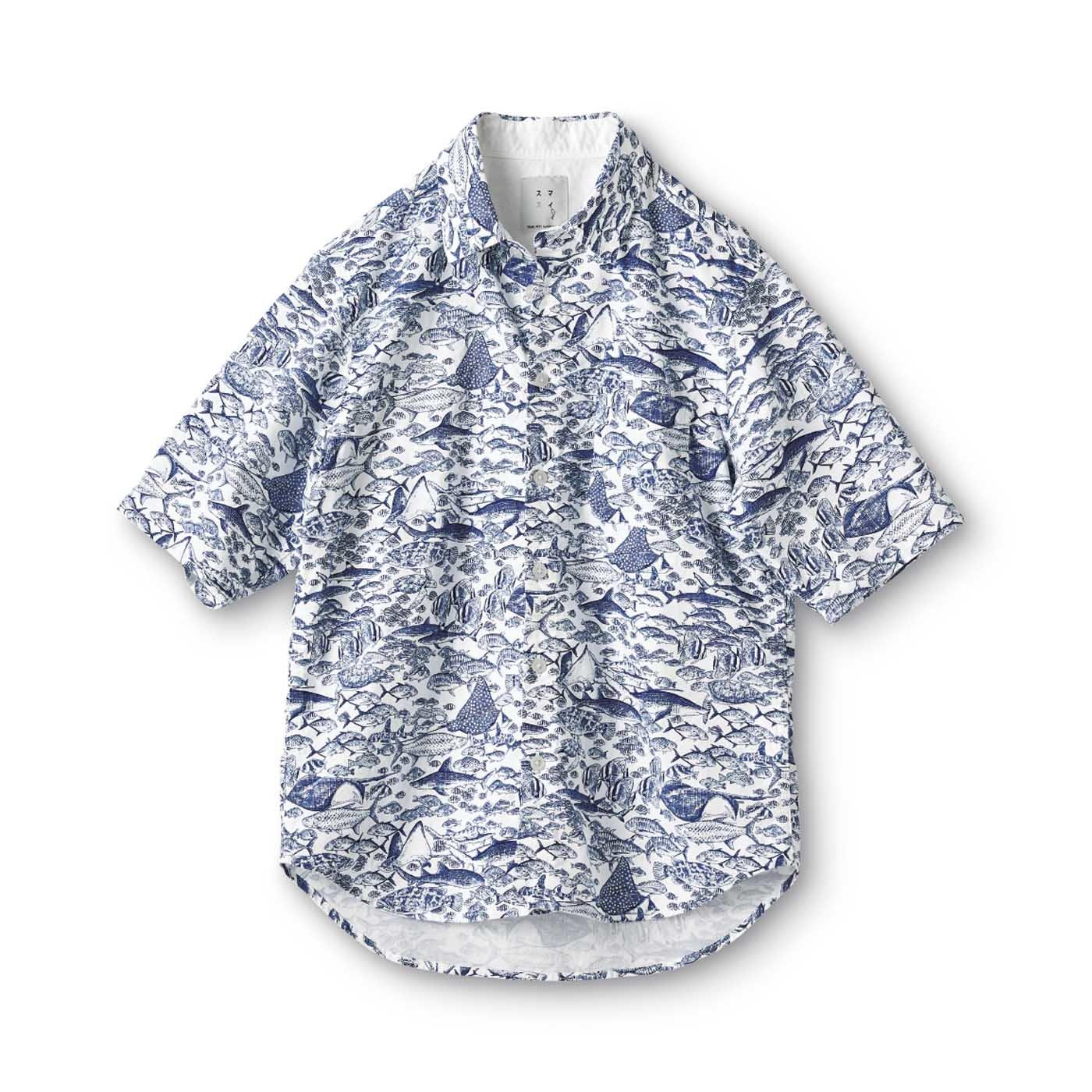 サニークラウズ feat. 須磨海浜水族園 大水槽の仲間たちシャツ〈メンズ〉